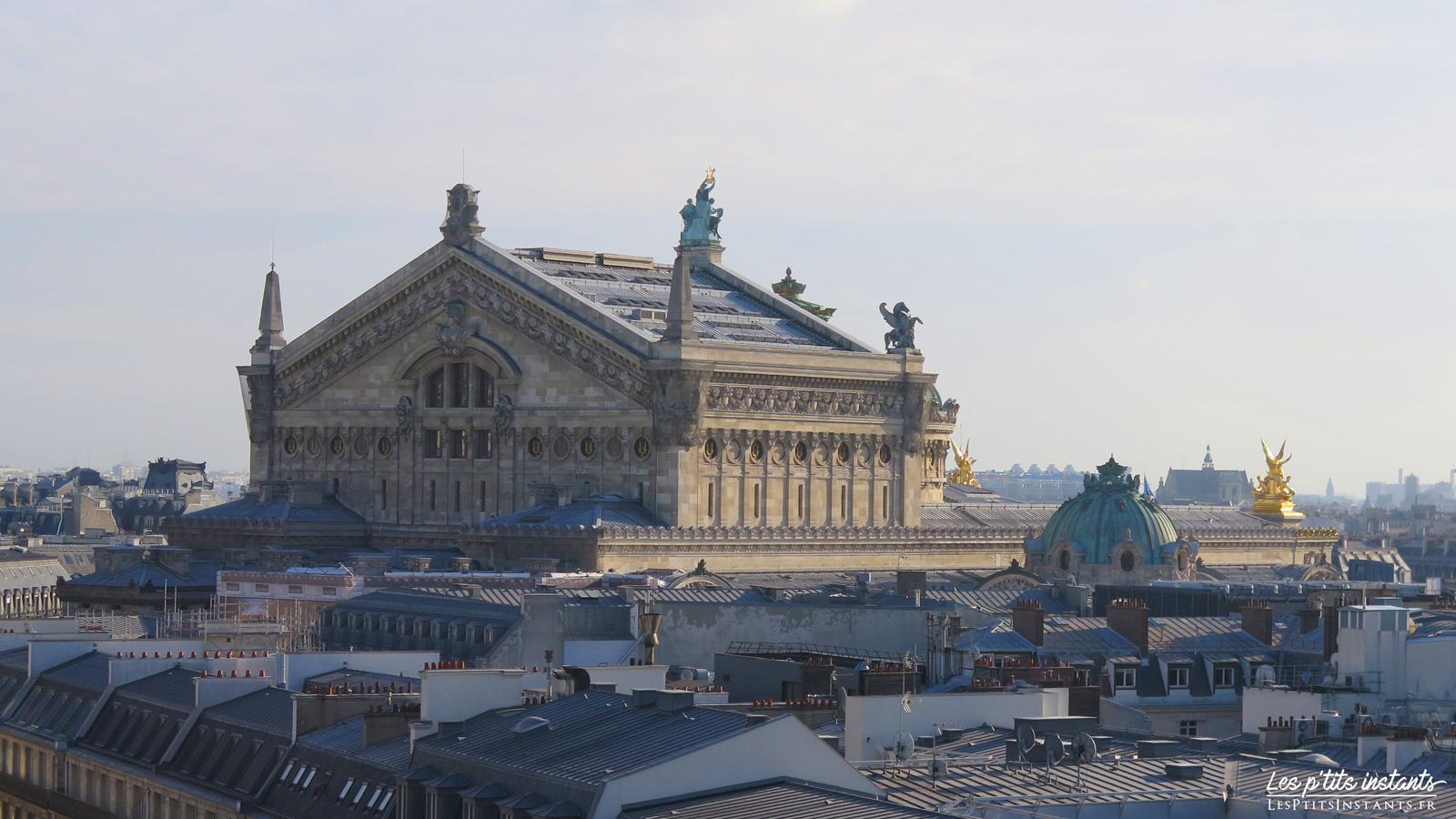 L'Opéra Garnier, depuis la terrasse panoramique du Printemps