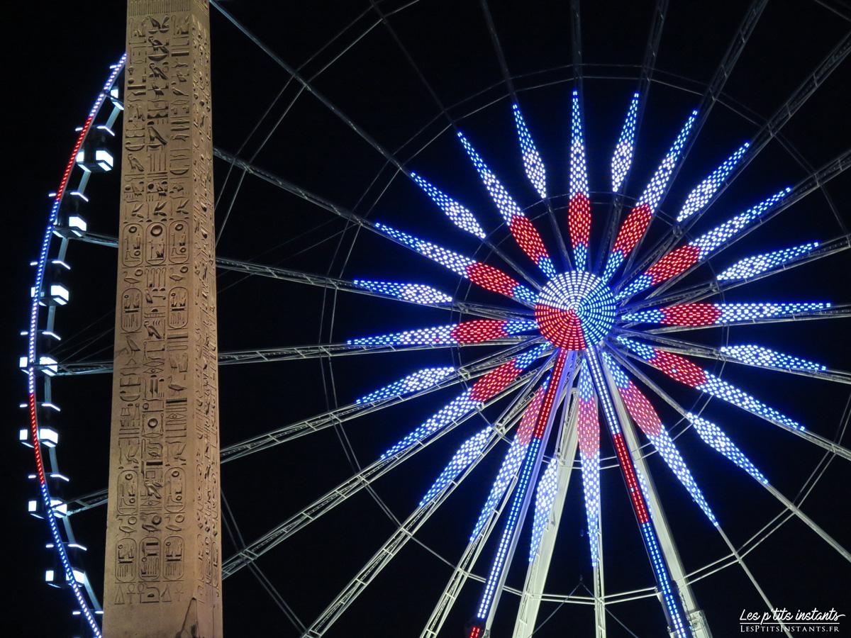 L'obélisque de Louxor et la Grande Roue de la Place de la Concorde