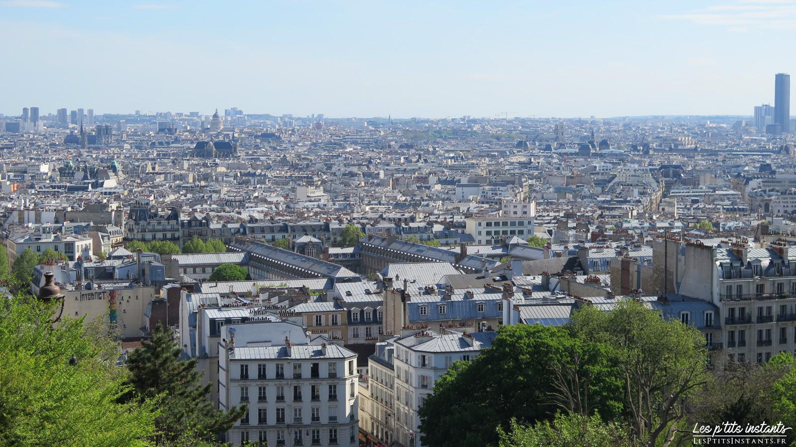 Vue sur Paris depuis la butte Montmartre
