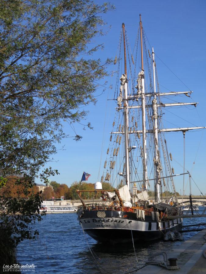 """Le trois-mâts goélette """"La Boudeuse"""", Port du Gros Caillou"""