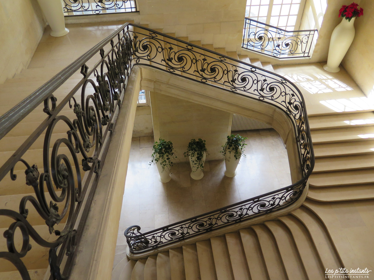 Escalier d'honneur, Abbaye aux Hommes, Caen (Calvados)